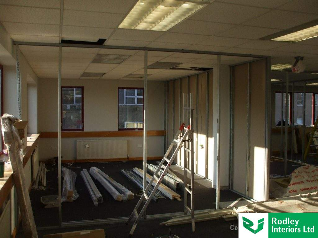 Refurbishment work in Leeds office.