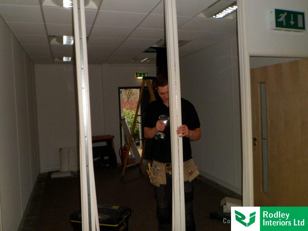 Glass partitions in Yorkshire