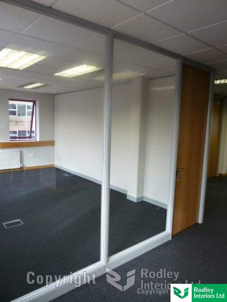Glazed office walls in Leeds
