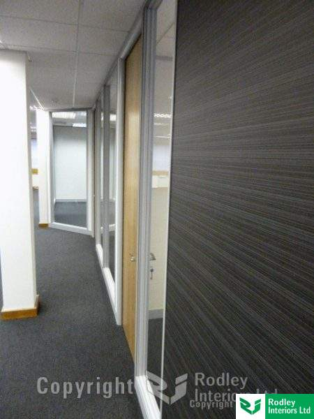 Solid and glass office walls in Yorkshire