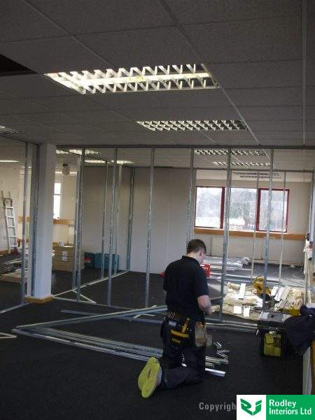 Office partitioning project