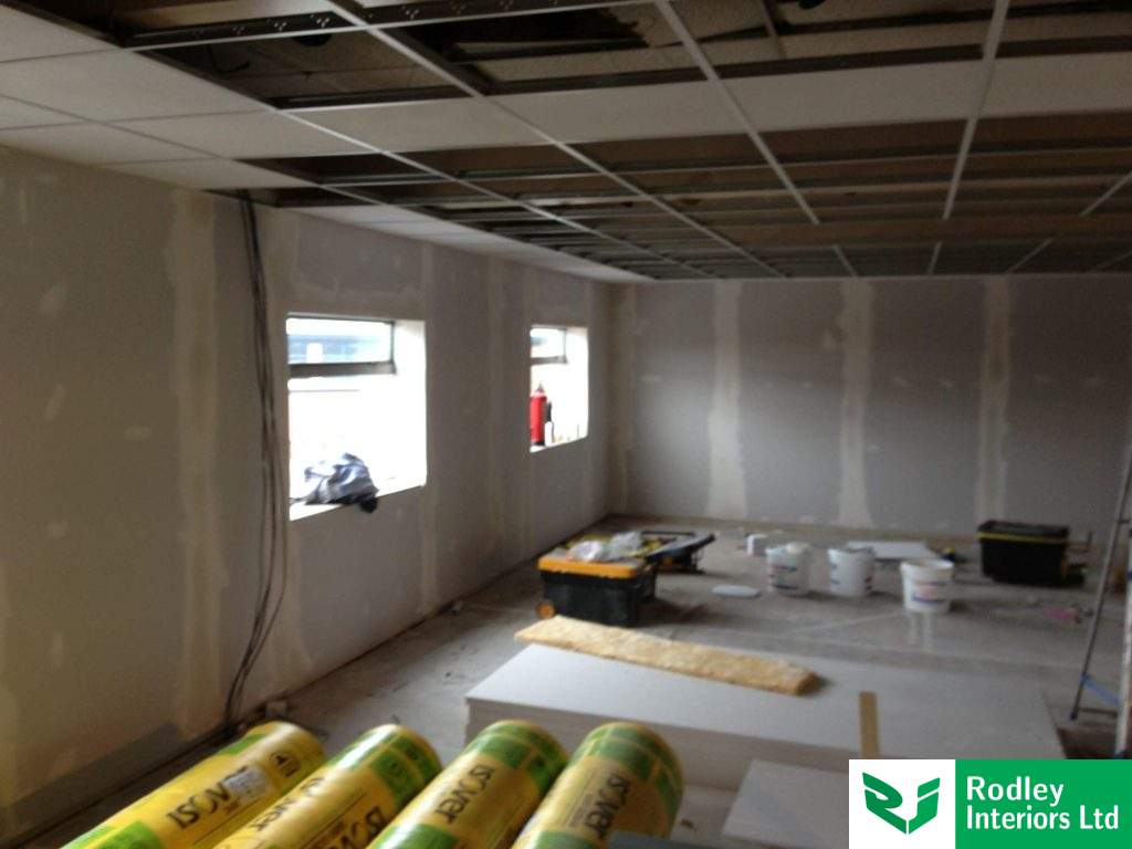 Dry lining to the external walls
