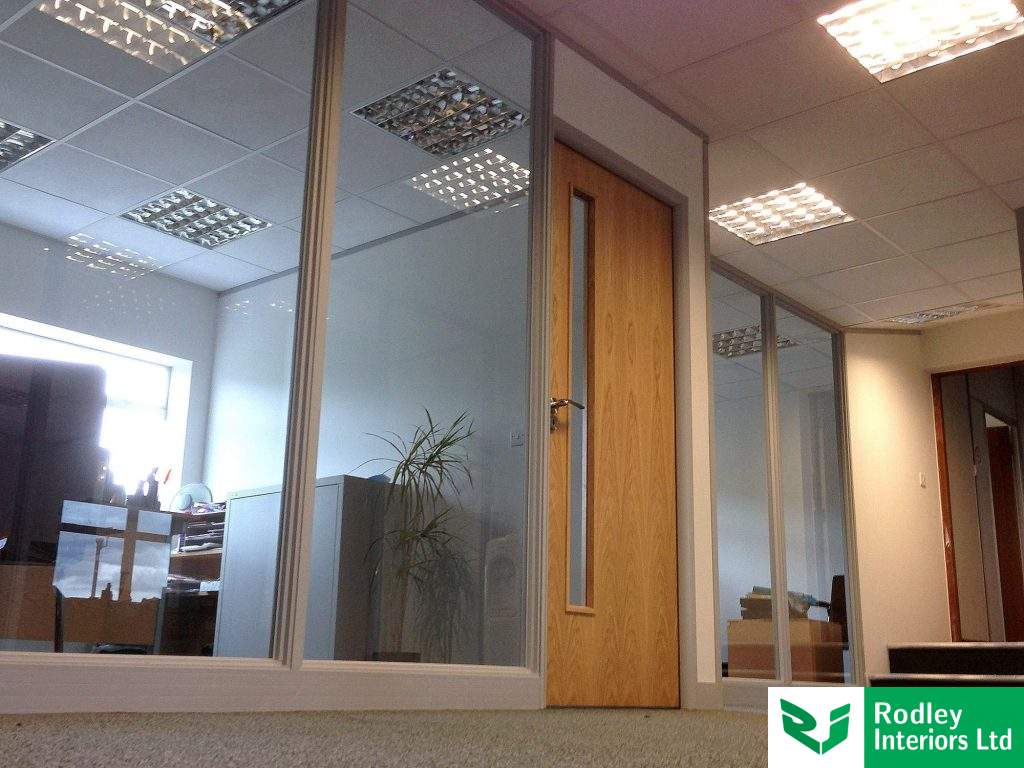 Full height single glazed partitions in Leeds