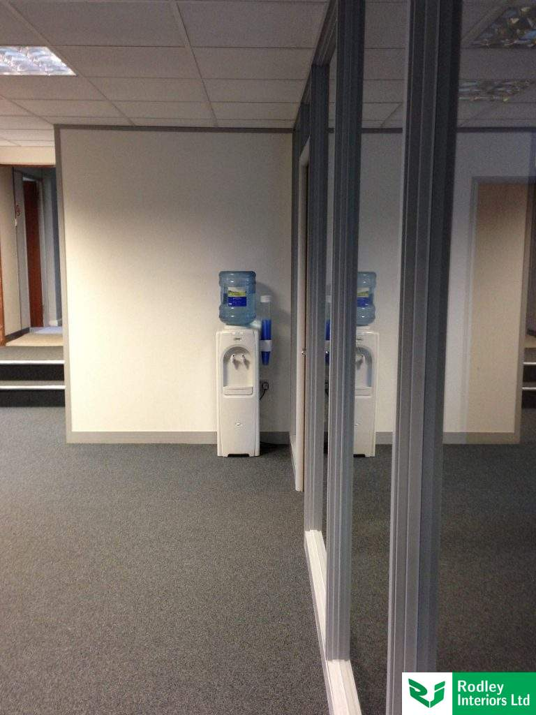 Glass partitions following office fit out