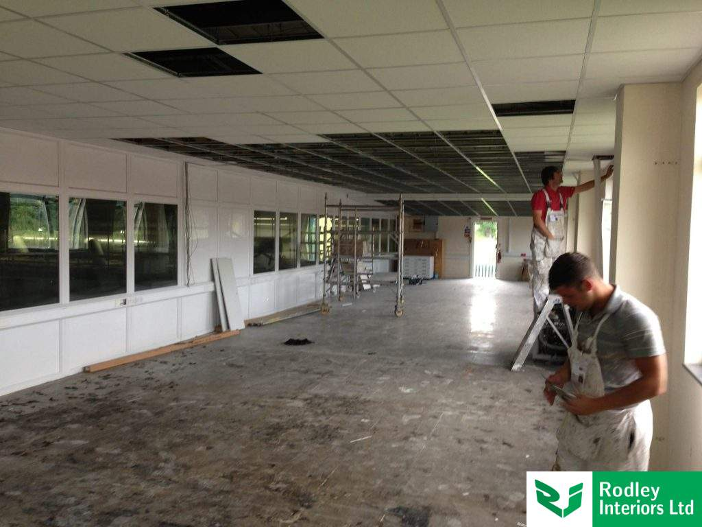 Suspended ceiling part tiled