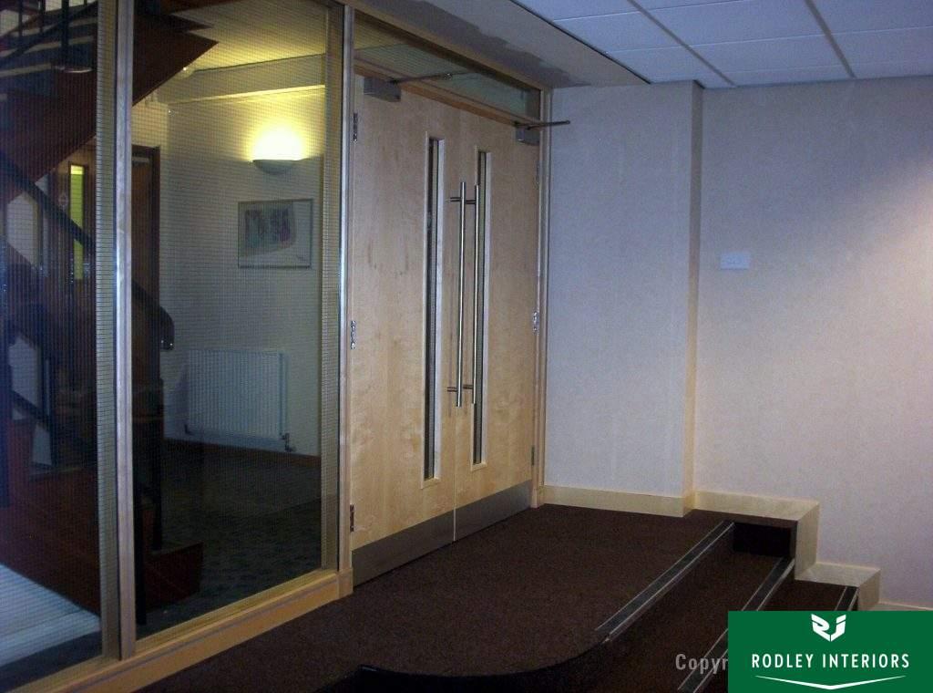Maple double door set fire rated