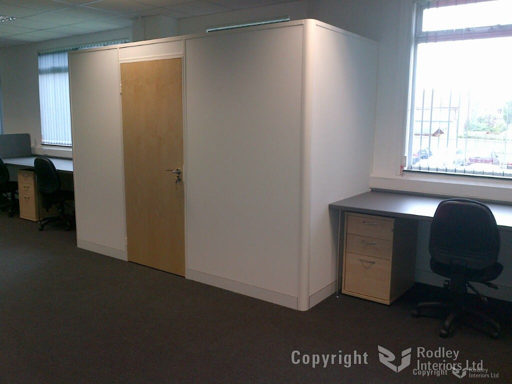 Free standing office partitions.