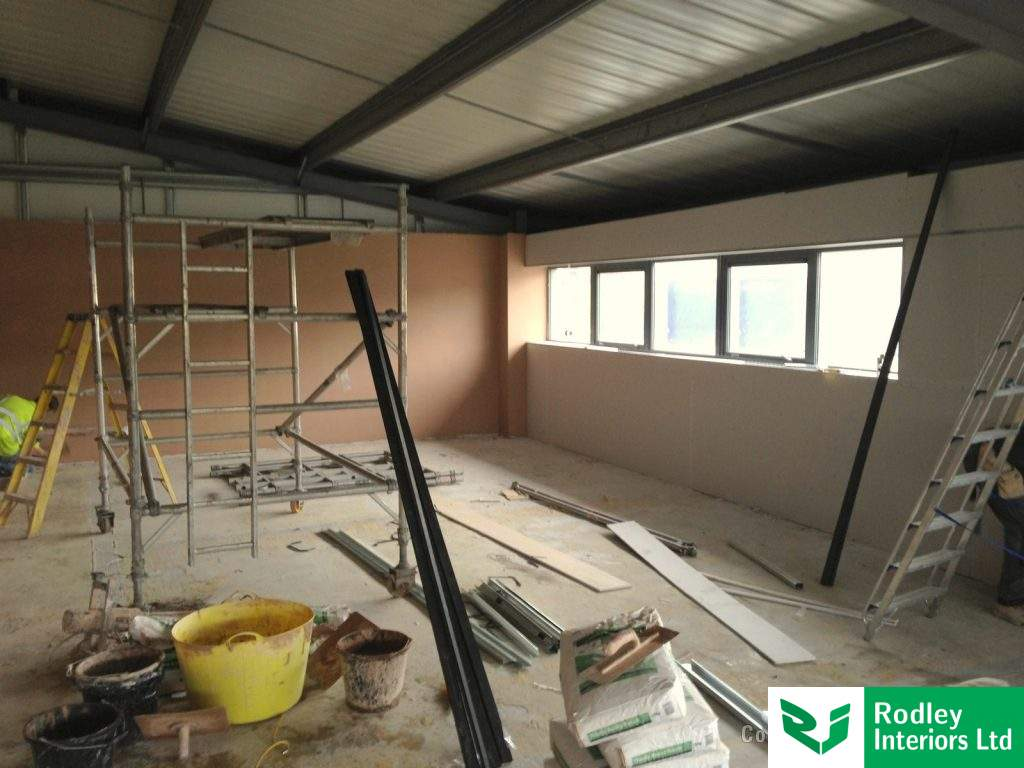 Dry lining works to the external windows.