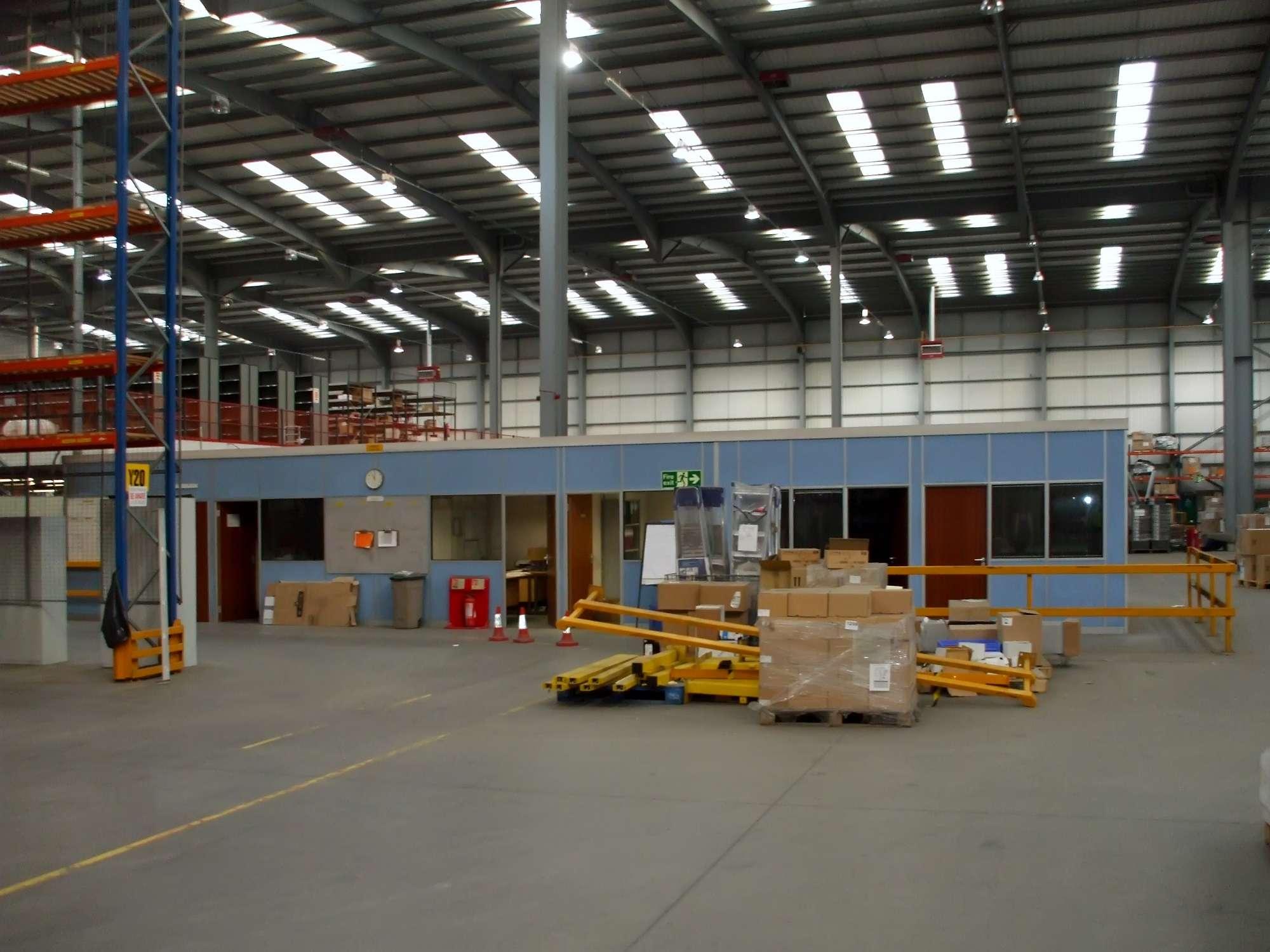 Work in progress: making an office in an aircraft hangar