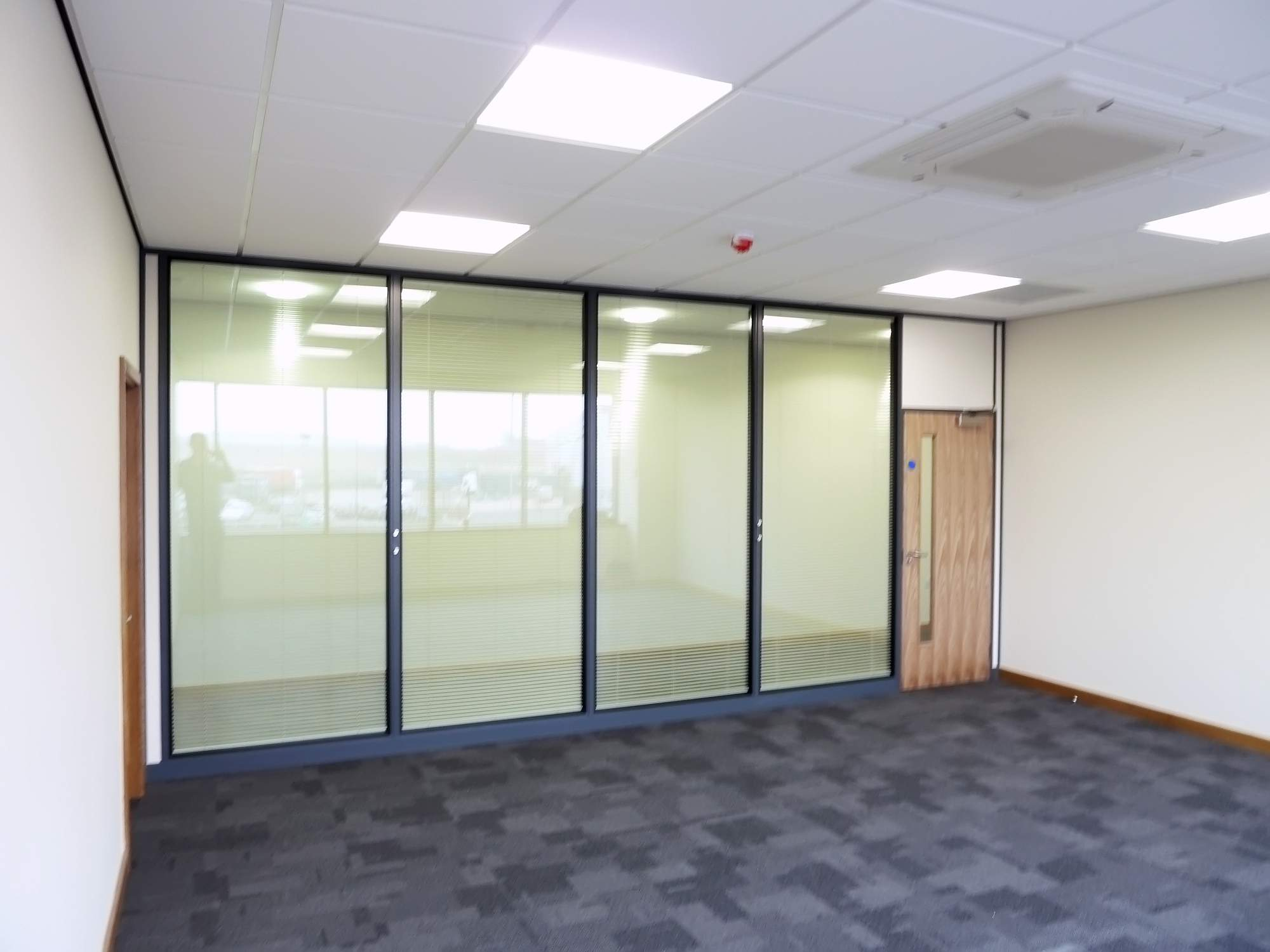 office corridor door glass. 03 - Fire Rated Partitioning With Clear Glass Fitted To The Corridor Side Giving Protection Both Office And Door