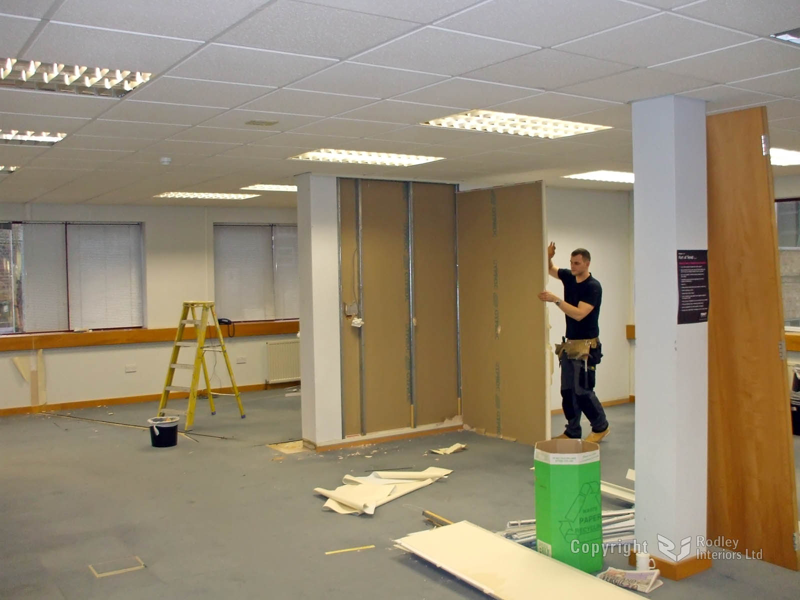 Internal Glass Office Partitioning (works in progress)