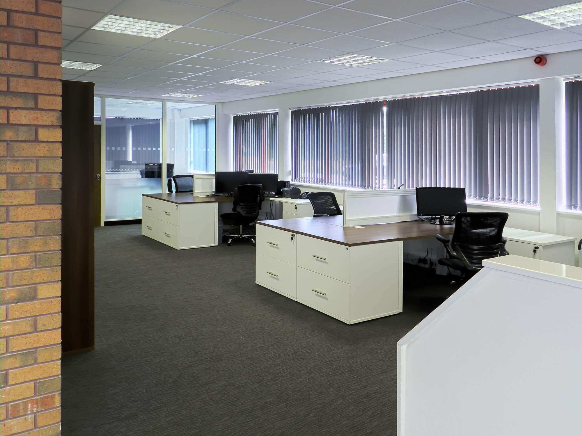 color scheme for office. Office Colour Design. 09 - Furniture Including The Chairs, Window Blinds And Carpet Color Scheme For
