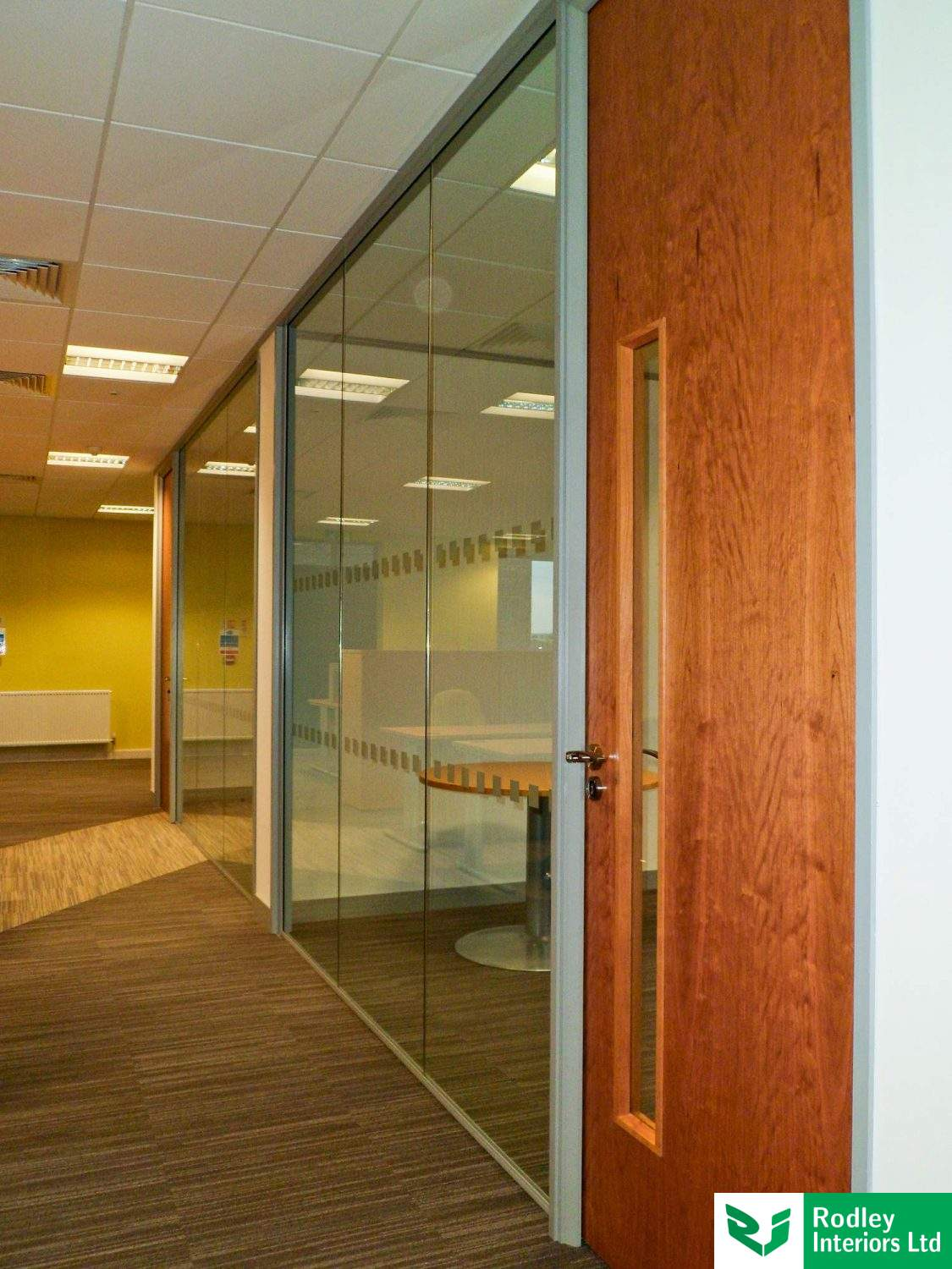 glazed office partitions photos