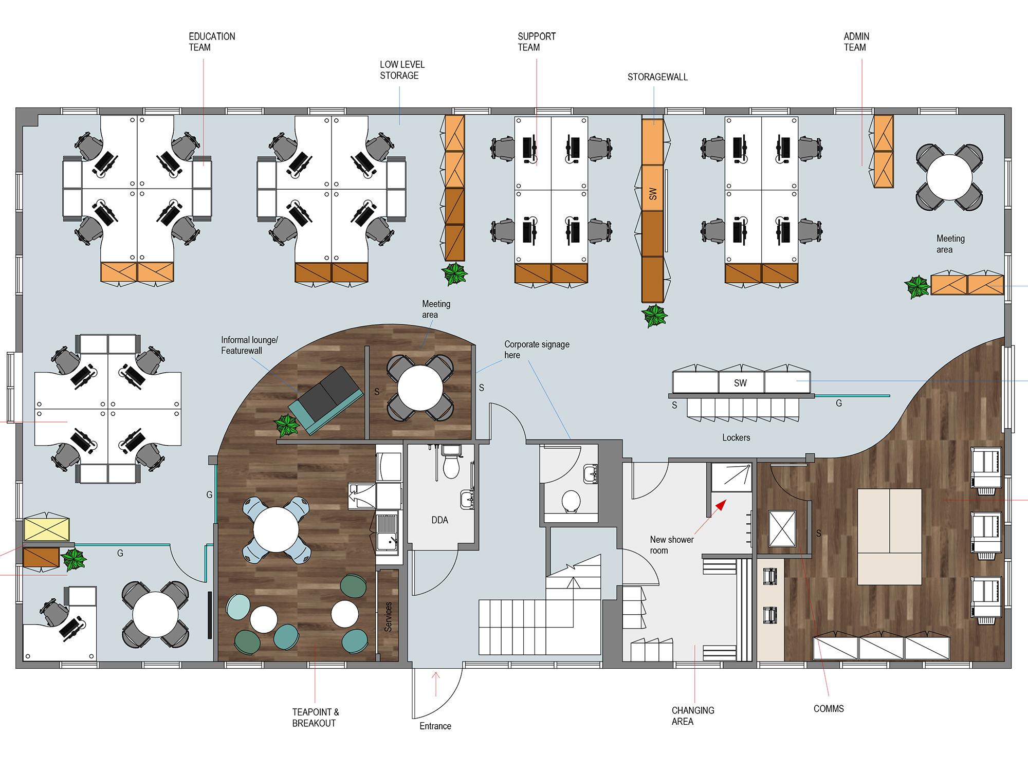 2d Office Layout Plans