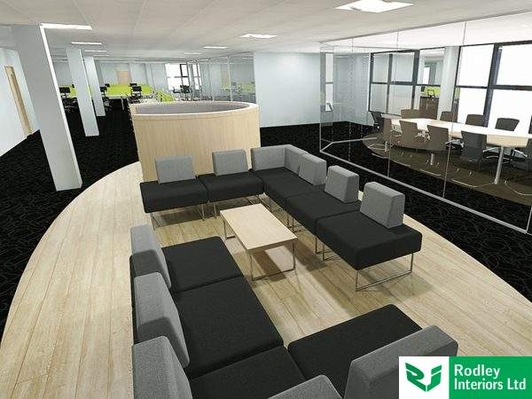 3D light rendered office view