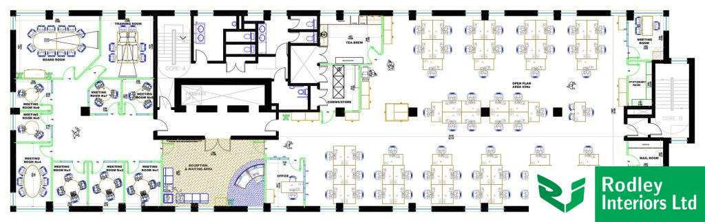 CAD drawing of proposed office layout