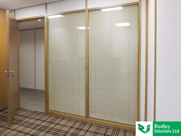Timber office partitioning