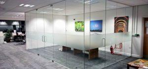 Toughened frameless glass walls in York