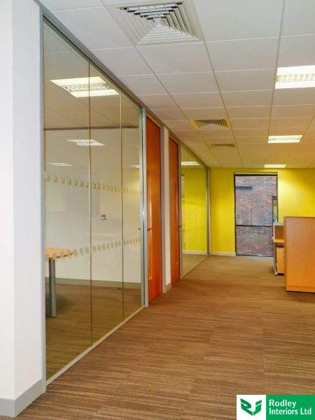 Komfort Frameless Glass Partitioning used