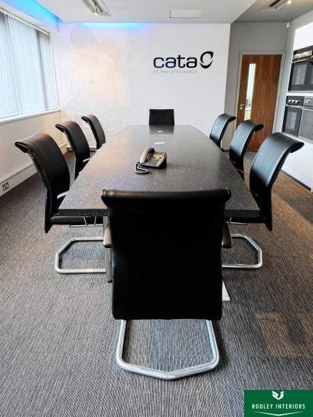 Contemporary, designer boardroom
