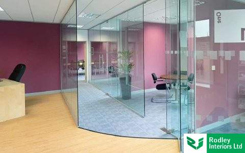 Glass Partitioning | Frameless Glass Office Partitioning
