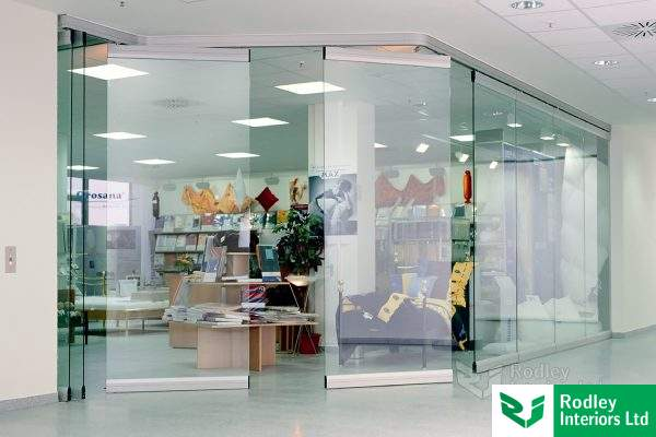 Glass sliding walls