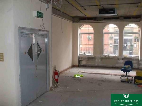 Leeds office before refurbishment work