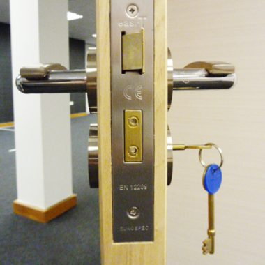 three lever lock and latch set