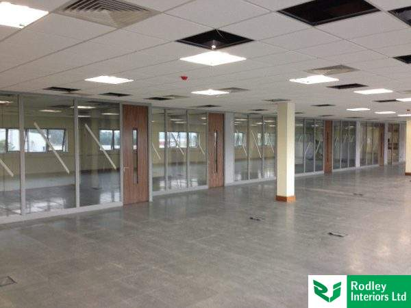 Large partitioning project in Leeds.