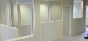 Double glazed partitions with blinds