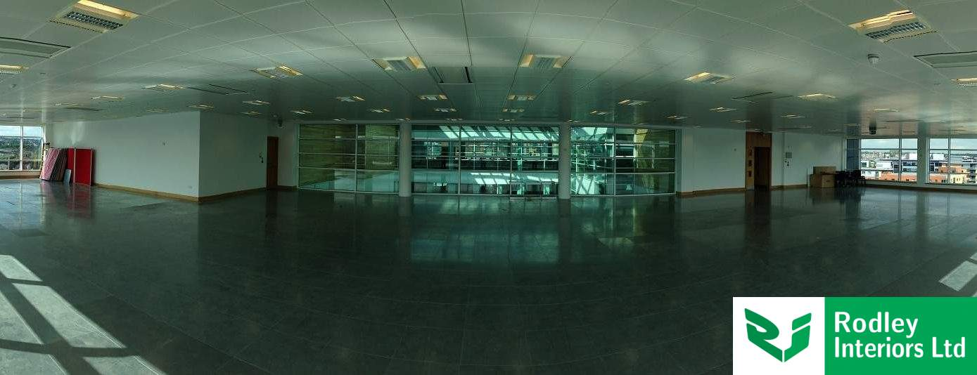 Half height glazed partitions project in West Yorkshire.