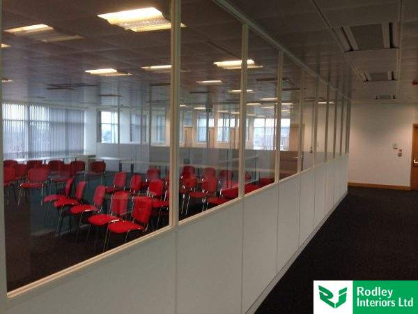 Half height glazed partitions