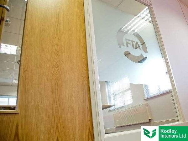 Office fit out with glass partitioning