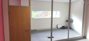 75mm single glazed partitioning project for a School in Leeds