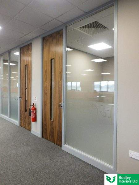 Aluminium 75mm 100mm Office Partitions