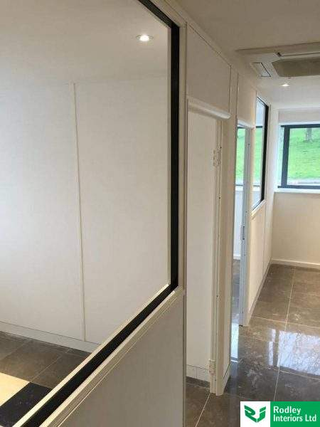 75mm white partitioning.