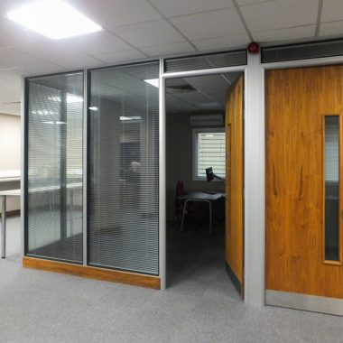 Large existing corner office.