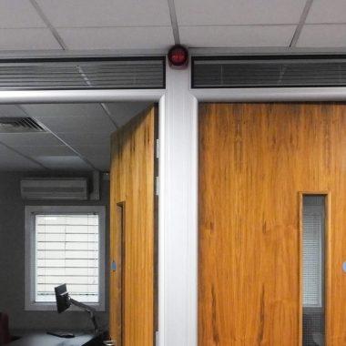 Above door set glazed modules