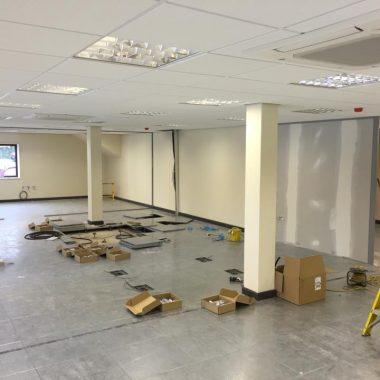 Refurbishment works underway.