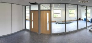 Partitioning a small office space