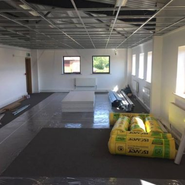 Works underway for large office fit out