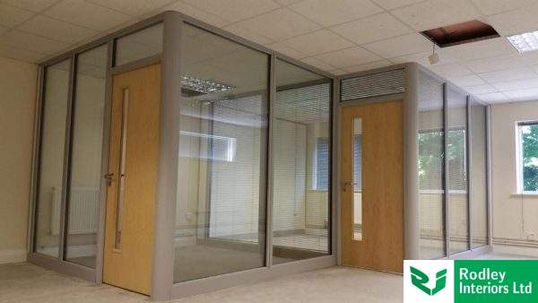 Glass Partitioning in office setting
