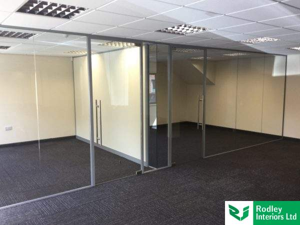 Internal glazed office screens