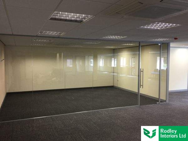 Internal glazed office in West Yorkshire
