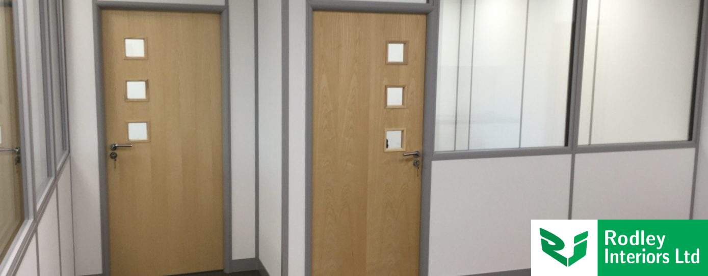 Office fit out project with glass