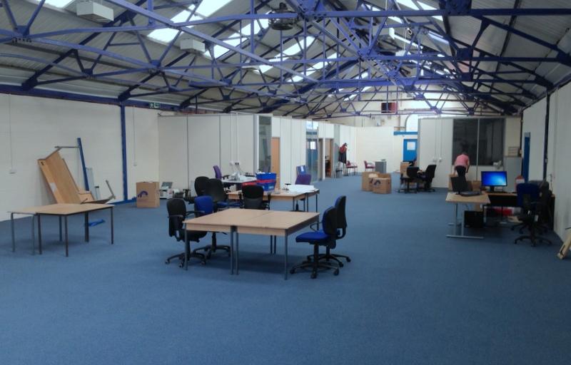 Large open plan factory transformed