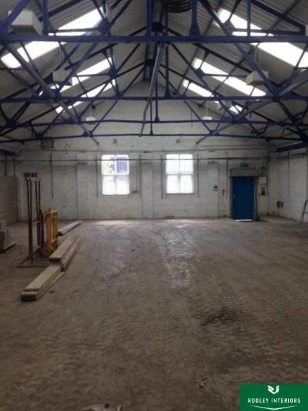 Leeds factory during refurbishment