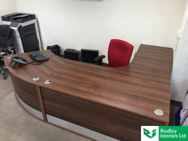 Bespoke Walnut rececption desk