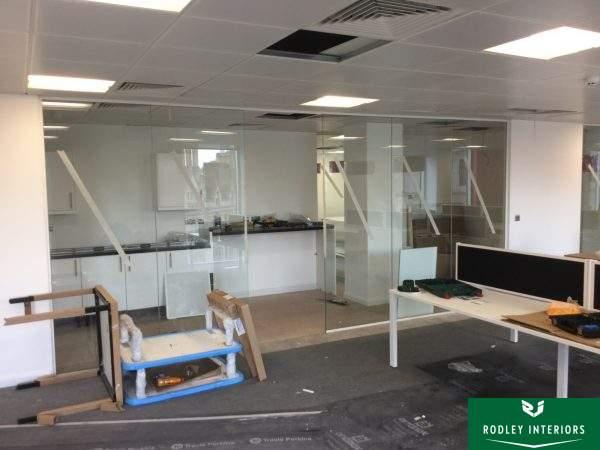 Leeds interior fit out frameless glass