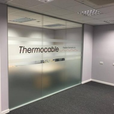 Double glazed office wall